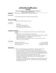 No Work Experience Resume  job experience resume examples high     Best Resume Template