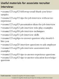 Useful materials for associate recruiter