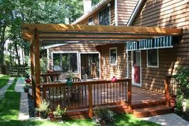 Deck Pergola Ideas by Adding Shade To A Deck St Louis Decks Screened Porches