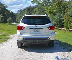 nissan pathfinder rear bumper 2017 nissan pathfinder platinum 4wd review u0026 test drive