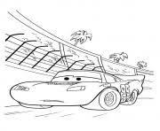cars lightning mcqueen backside coconut tree a4 disney coloring