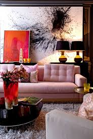 Feminine Living Room by 9 Pretty In Pink Rooms For Your Feminine Side Pink Sofa Shag