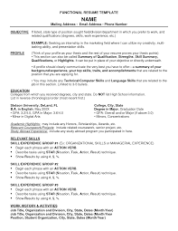 resume format objective resume examples appealing 10 great resume template functional resume examples resume template functional objective profile education relevant skills work history and activities