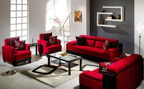 adorable red lounge room designs together with stylish sofa living