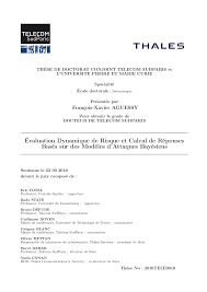 Dynamic Risk Assessment and Response Computation using Bayesian     PhD thesis  en