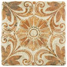 Floor And Home Decor Merola Tile Costa Arena Decor Dahlia 7 3 4 In X 7 3 4 In Ceramic