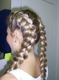 Французька коса   макраме з волосся