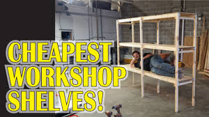 Build Wood Garage Shelves by Garage Workshop Shelves For 20 Youtube