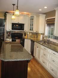 white kitchen tour guest slate backsplash dark granite and