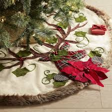 fur christmas tree skirt christmas lights decoration