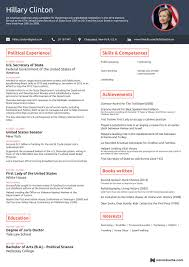 example of federal government resume one page resumes examples resume examples and free resume builder one page resumes examples free professional online one page resume templates hilary clinton