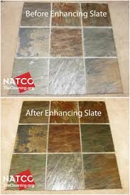 enhancing the colors of slate tiles and giving the slate a wet