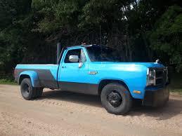 Dodge Ram 93 - 1993 12 valve cummins diesel dually stacks black and blue trucks