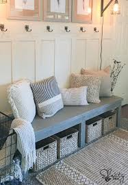 Diy Reclaimed Wood Storage Bench by Best 25 Build A Bench Ideas On Pinterest Diy Wood Bench Bench