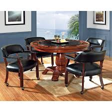 steve silver 5 piece tournament dining game table set with caster