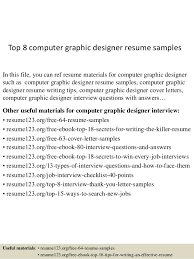Graphic Designer Resume Sample by Top 8 Computer Graphic Designer Resume Samples 1 638 Jpg Cb U003d1432890927