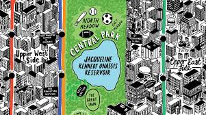 Central Park New York Map by New York Mapped By Hand Webdesigner Depot