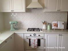 Pressed Tin Panels Liquorice Allsorts Pattern Installed As A - White tin backsplash