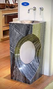 Stone sink as the modern bathroom designs