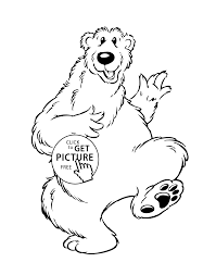 bear cartoon animals coloring pages for kids printable free