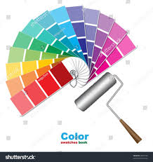 Color Swatches Paint by Color Swatches Paint Roller Brushes Stock Vector 99322184