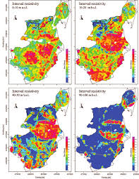 Thematic Maps A Geophysical Thematic Maps Showing The Average Resistivities