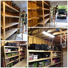 Build Wood Garage Shelves by Diy Garage Storage Favorite Plans Ana White Woodworking Projects