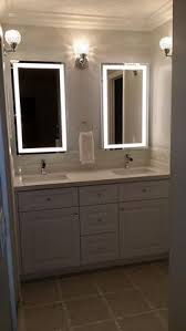 Bathroom Mirror With Lights Built In by Storjorm Mirror With Built In Light White Applying Makeup