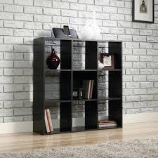 Sauder Black Bookcase by Mainstays Organizer Bookcase Ebony Ash Walmart Com