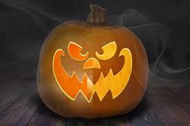 free jack o u0027 lantern psd mockup for halloween on behance