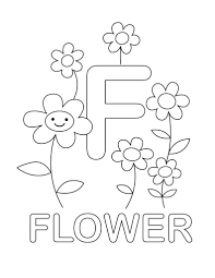 letter coloring pages f for flower coloringstar