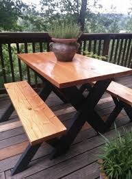 Building Plans For Picnic Table Bench by 8 Best Diy Picnic Table Images On Pinterest Outdoor Tables