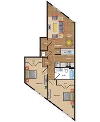 Two Bedroom Apartment Floor Plans Metro Village Apartments Floor Plans U0026 Pricing