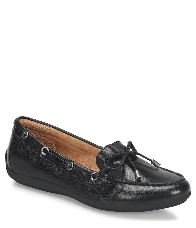 Comfortiva Mindy Leather Closed Toe, Black,