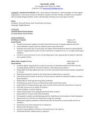 Objectives For Resumes Examples by Sample Resume Hospital Social Worker Winning Answers To 500