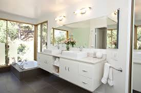 Bathroom Cabinet With Mirror And Light by Innovative Strasser Woodenworks In Bathroom Modern With Beveled