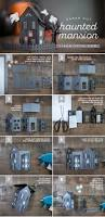 paper craft haunted house dioramas cuttings and centerpieces