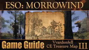 Morrowind Map Eso Morrowind Vvardenfell Ce Treasure Map Iii Youtube