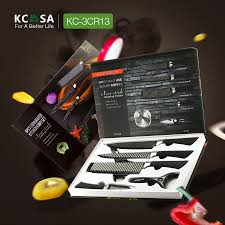 kcasa kc 3cr13ii 6 pieces 3cr13 stainless steel kitchen knife set