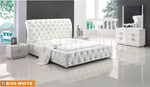 Hollywood Regency Furniture Tags  Hollywood Regency Bedroom - White tufted leather bedroom set