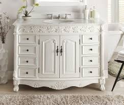 Antique White Classic Florence Bathroom Sink Vanity Model  BC - 48 bathroom vanity antique white