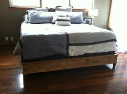 King Size Floating Platform Bed Plans by Ana White King Size Platform Bed Diy Projects