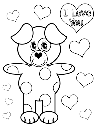 love you coloring pages valentines day card i love you coloring