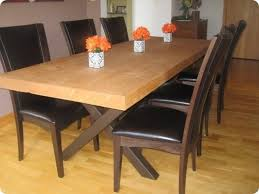 making dining room table how to make a dining table out of a old