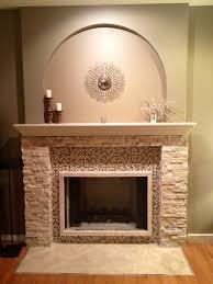 interior cobblestone fireplace mantel decor ideas fireplace
