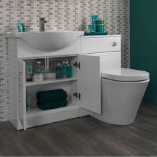 Bathroom Combined Vanity Units by Sienna Arte White Gloss Combination Vanity Unit Small