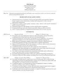 Sample Resume  Sle Resume Objectives Quality Control Inspector
