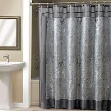 bathroom grey shower curtain with cool pattern for bathroom