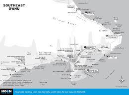 Map Of Waikiki Printable Travel Maps Of O U0027ahu Moon Travel Guides