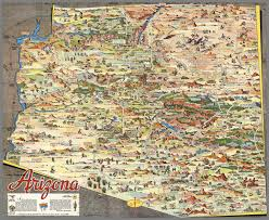 Map Of Arizona by A Pic Tour Map Of Arizona David Rumsey Historical Map Collection
